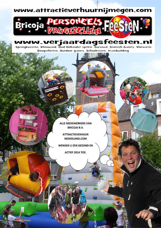 attractieverhuur Nederland bricoja b.v. wenst u een gezond 2014