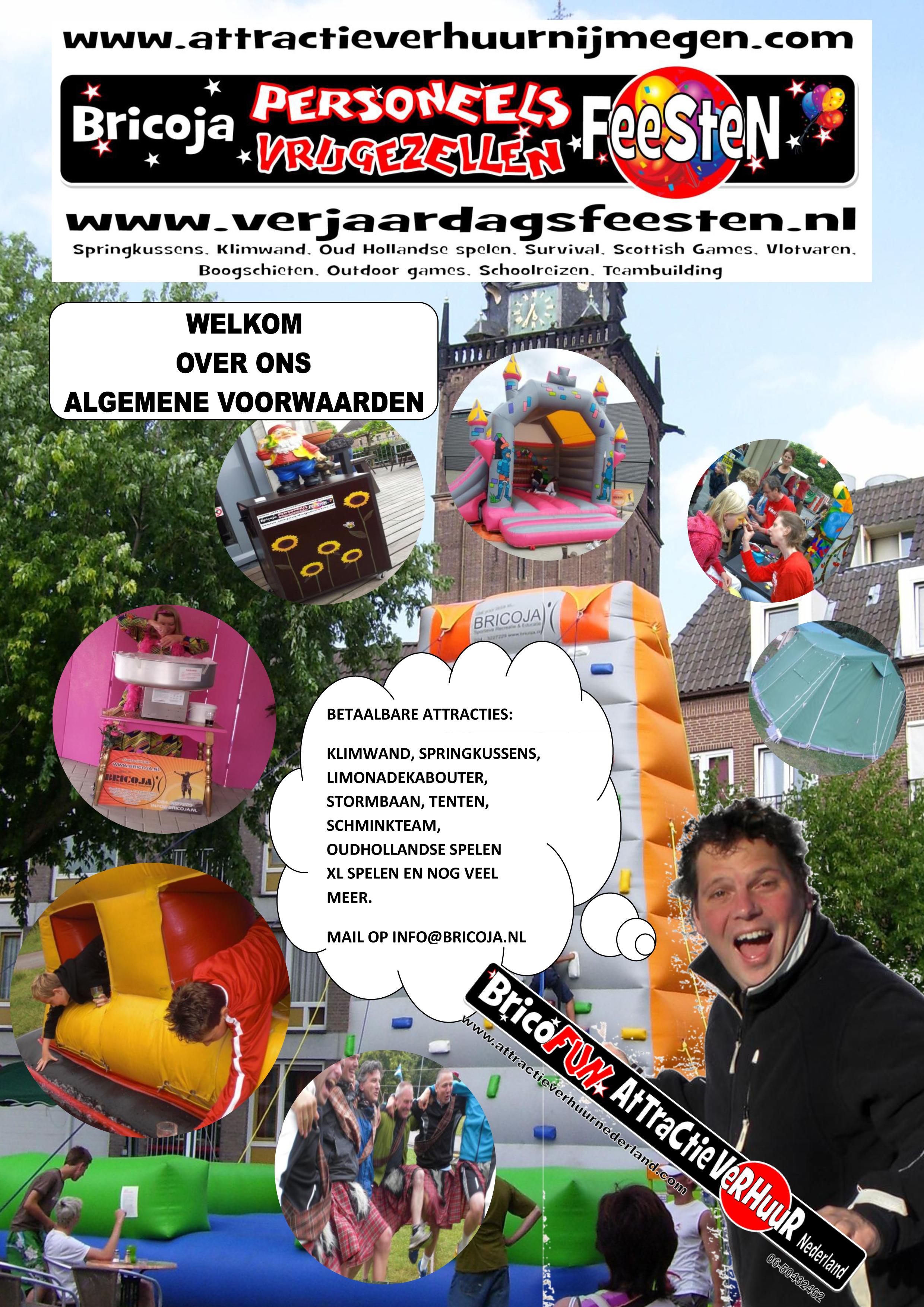 attractieverhuur nederland bricofun algemene voorwaarden