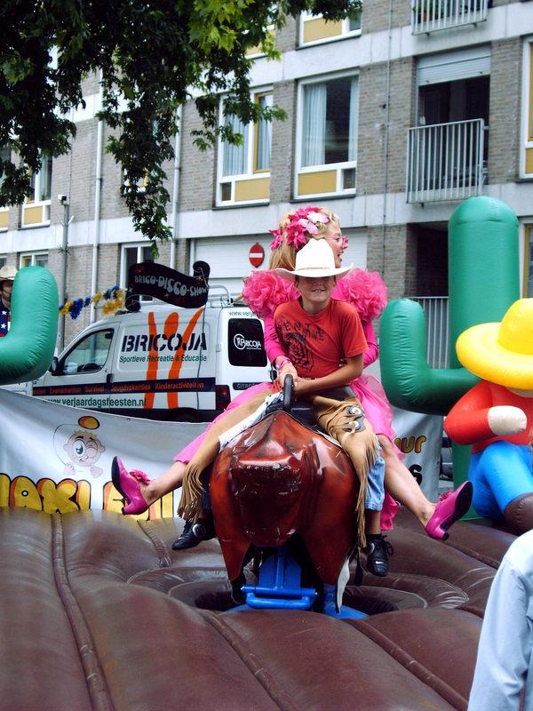 Rodeo stier € 250,-  verzorgt 4 uur € 425,-