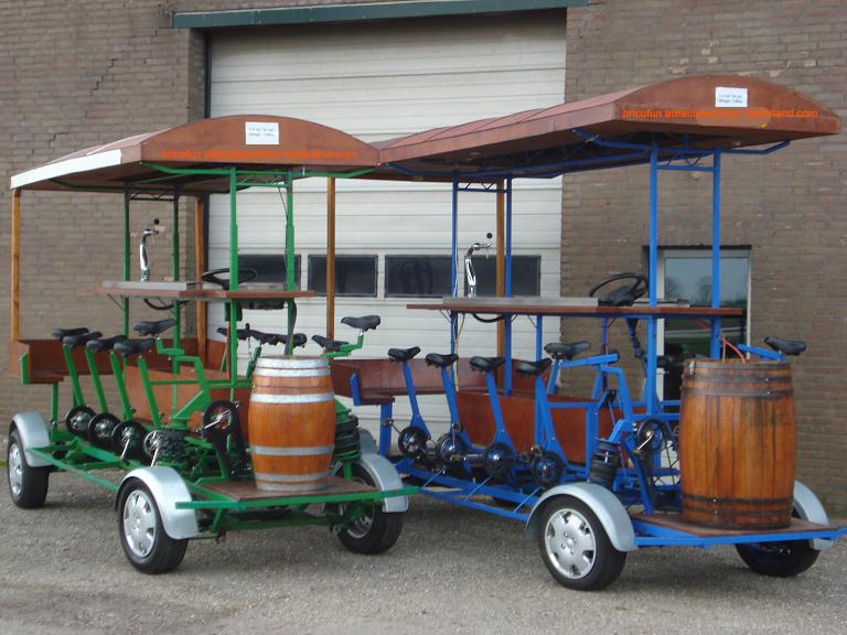 Bierfiets v.a. 235,00 (Bierfiets incl. 30 liter bier in centrum nijmegen incl. btw 544,50)